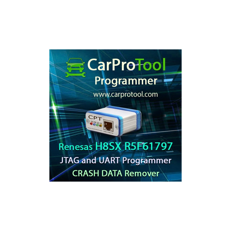 Renesas H8SX R5F61797 J-TAG and UART Programmer CRASH DATA Remover. Activation for CarProTool.