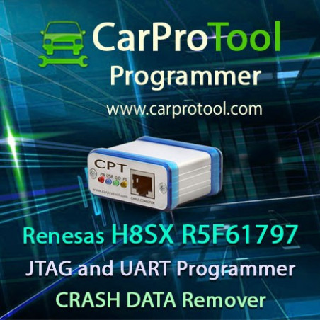 Renesas H8SX R5F61797 J-TAG UART CAN Programmer CRASH DATA Remover. Activation for CarProTool.
