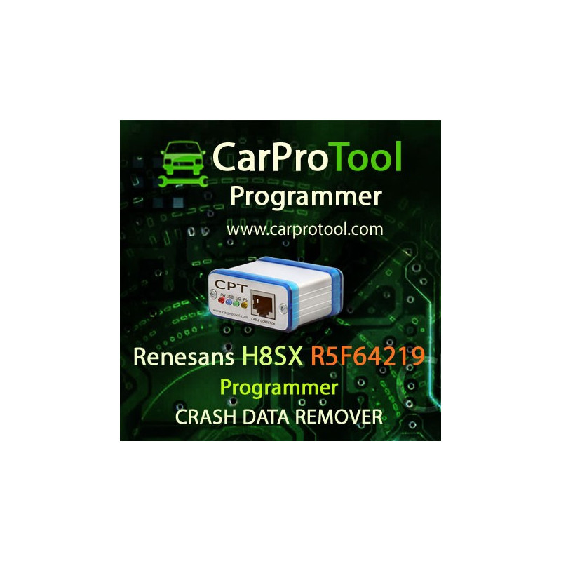Renesas R5F64219 / R5F2154AE Programmer CRASH DATA Remover. Activation for CarProTool.