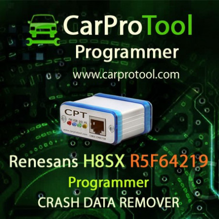 Renesas R8C / M32C / R32 Programmer CRASH DATA Remover. Activation for CarProTool..