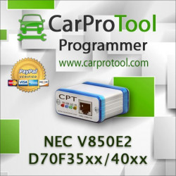 Renesas NEC V850E2  D70F35xx  D70F40xx. FLUR0RTX Connection type. Activation for CarProTool.