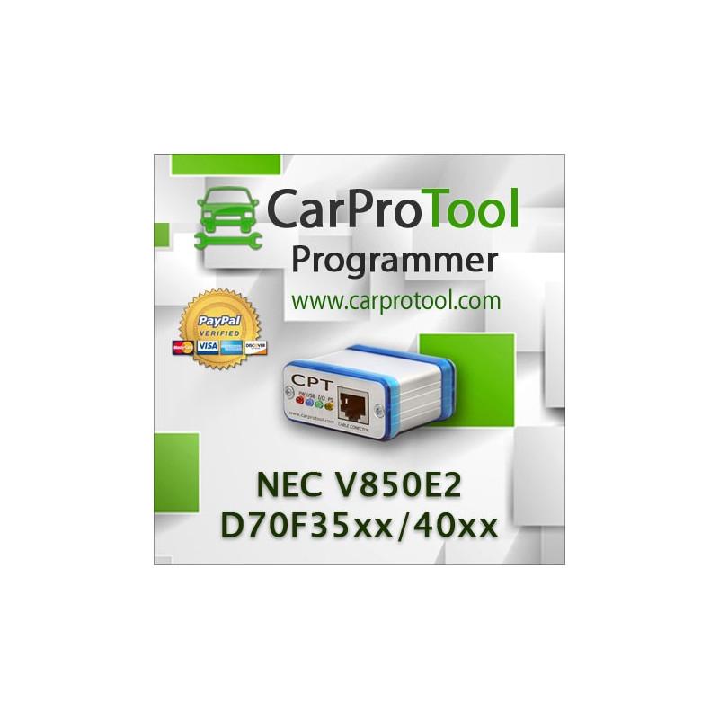 Renesas NEC V850E2 D70F35xx D70F40xx. FLUR0RTX Connection type. Aktywacja dla CarProTool-a.