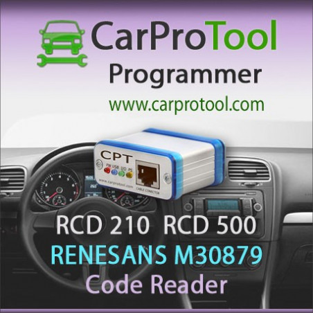 RCD 210 / RCD 500 Panasonic (Renesas M30879) Code Reader. Activation for CarProTool.