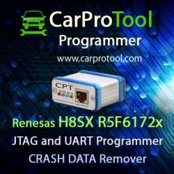 Renesas H8SX R5F6172x JTAG and UART Programmer CRASH DATA Remover. Aktywacja dla CarProTool-a.