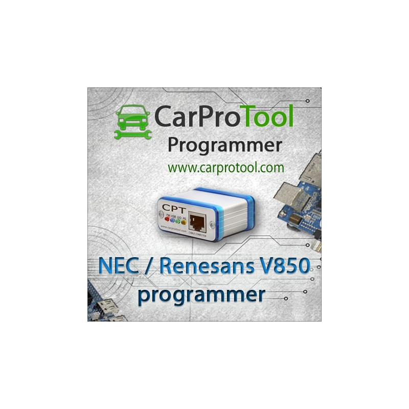 Renesas / NEC V850 programmer. Activation for CarProTool.