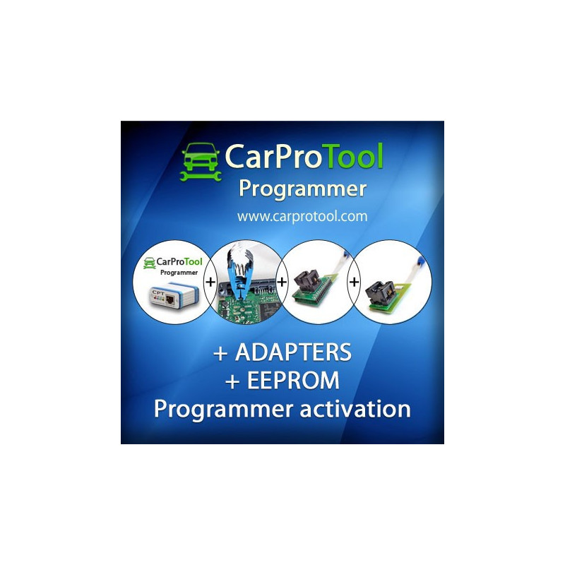 CarProTool Programmer + ADAPTERS + EEPROM Programmer activation.