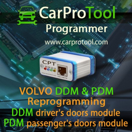 VOLVO DDM & PDM Reprogramming. Activation for CarProTool.