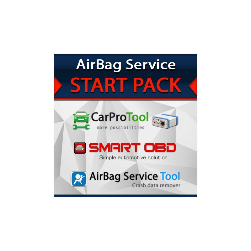 Airbag Service Start Pack with SmartOBD CAN Tool
