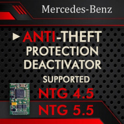 MERCEDES-BENZ COMMAND NTG 4.5  NTG 5.5  ANTI-THEFT DEACTIVATOR
