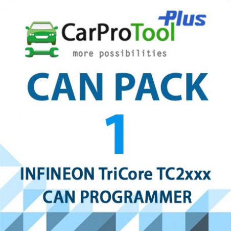 CPT CAN PACK1 FORD, MAZDA, NISSAN 2018+ Infineon TriCore TC2xx OBD2 CAN Programmer